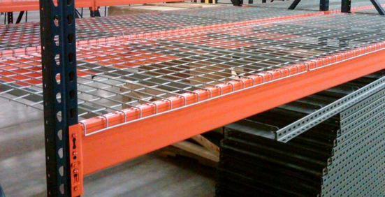 warehouse rack wire decking, wire mesh, cages for pallet racking